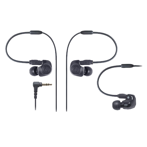 Audio-Technica ATH-IM50 Dual symphonic-driver In-ear Monitor headphones